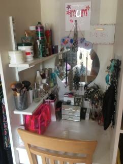 Mum's makeup dresser