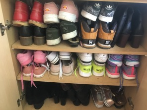 Family shoes arranged by possession