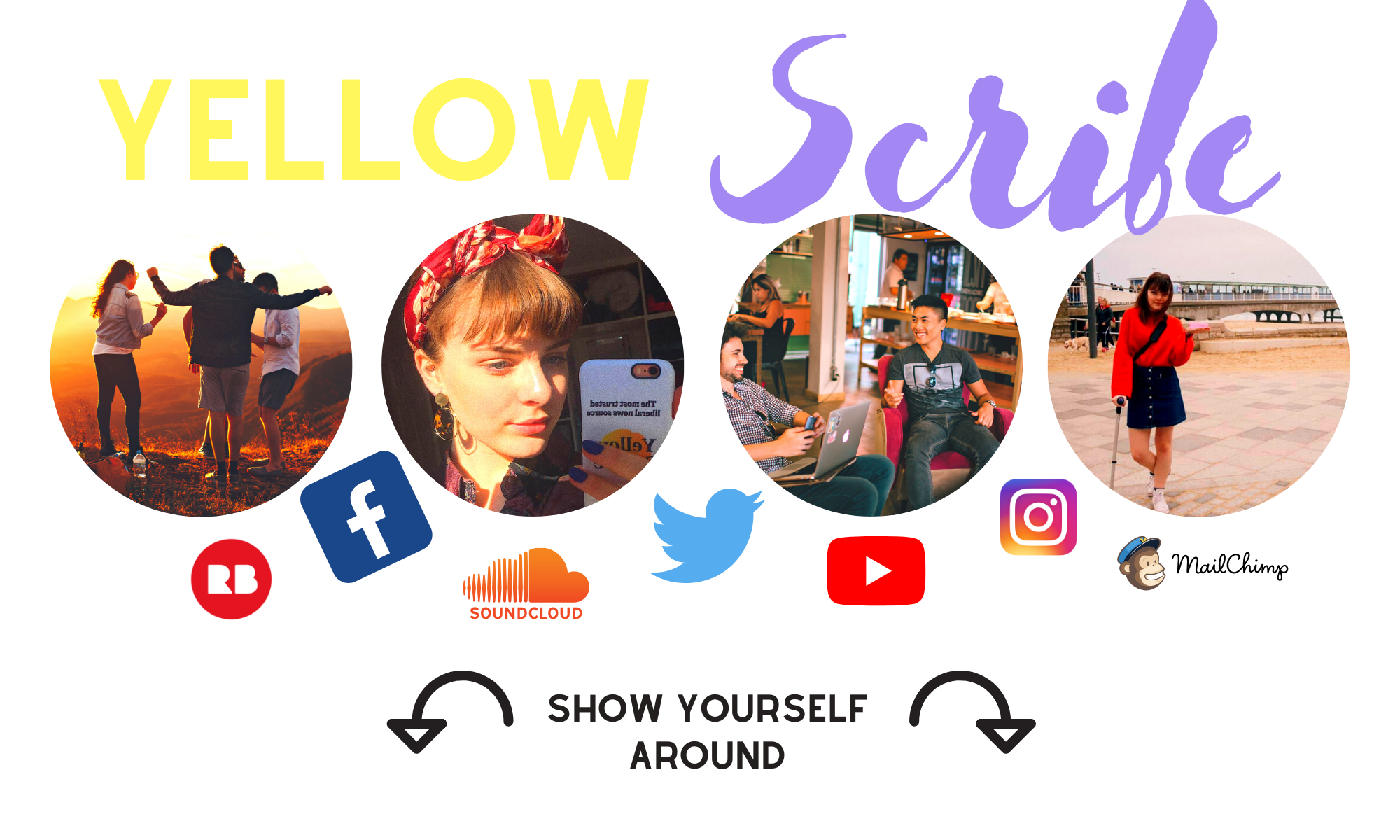 Header Image saying Yellow Scribe